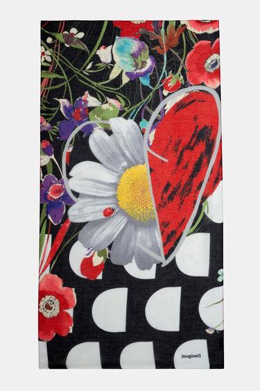 Floral rectangular foulard | Desigual