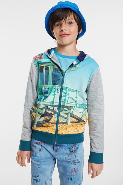 Reversible unisex sweatshirt