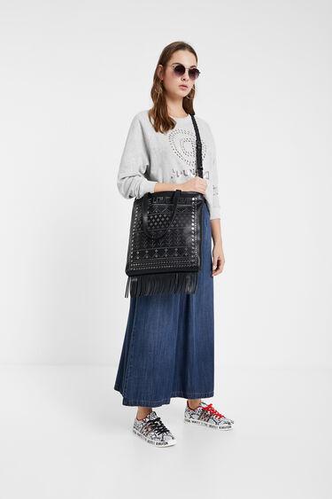 Sling bag with metal rivets | Desigual