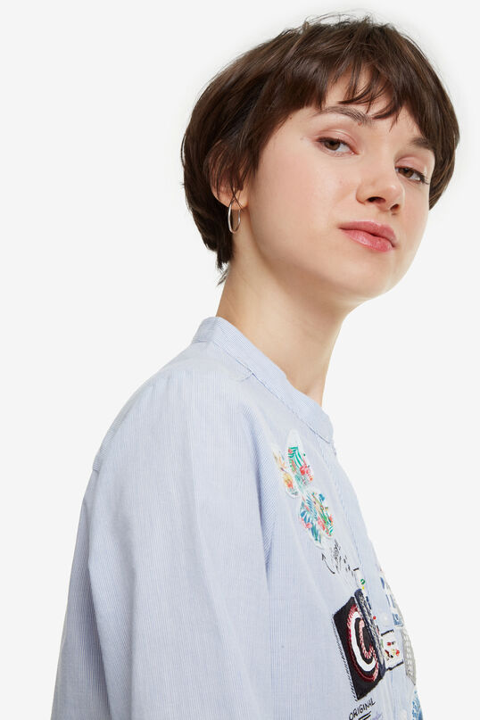 Blue Long-sleeved Shirt Georgina | Desigual