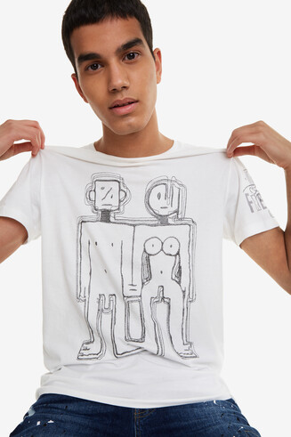 Pencil sketch logo T-shirt Cedric