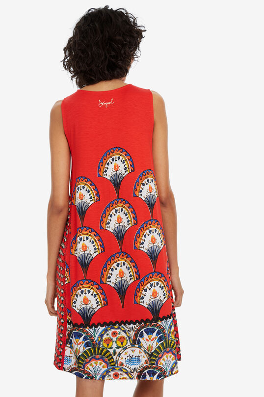 Fan-print sleeveless dress Vento | Desigual