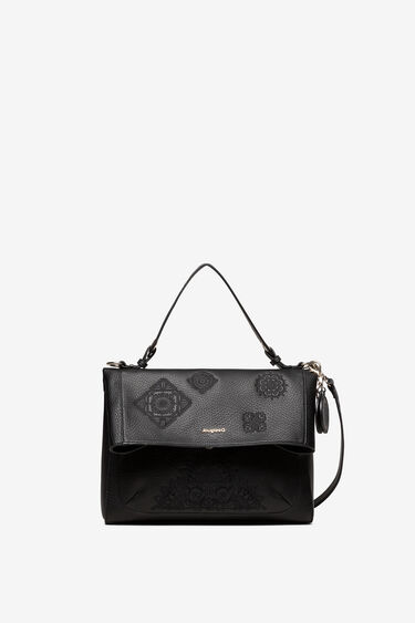 Bag embossed mandalas and flap | Desigual