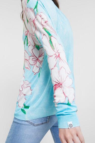 Sweter w kwiaty | Desigual
