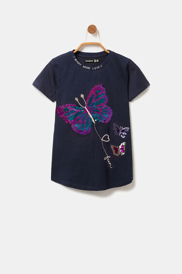 Reversible sequin butterfly T-shirt | Desigual