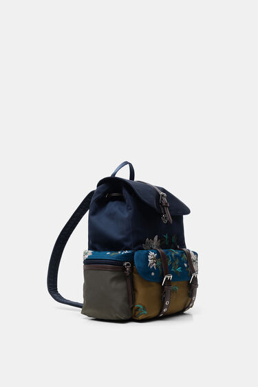 Floral embroidery backpack | Desigual