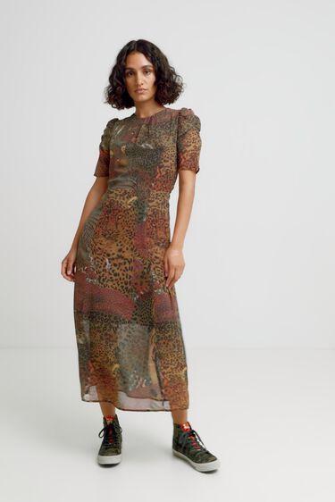Short sleeve midi-dress | Desigual