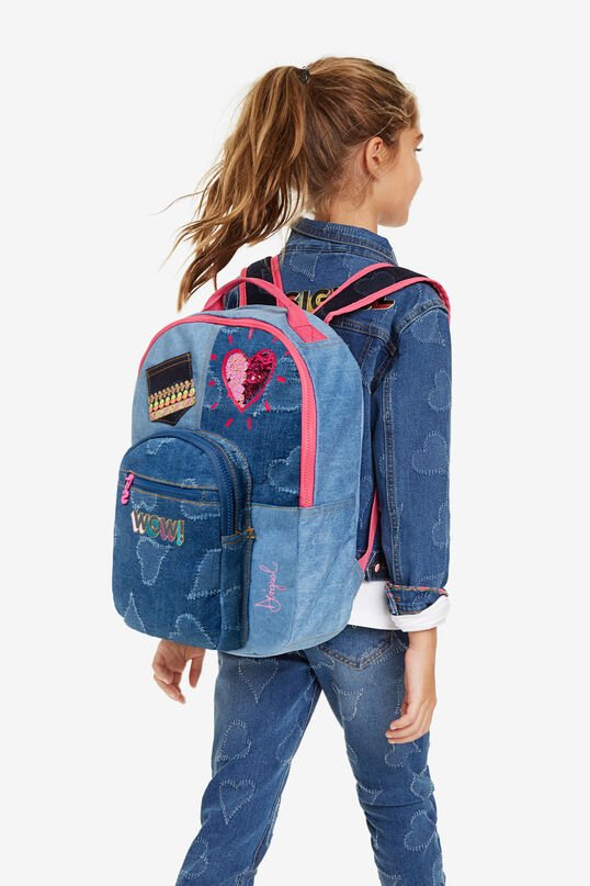 Sequinned denim backpack | Desigual