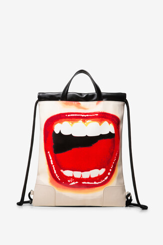 String backpack lips