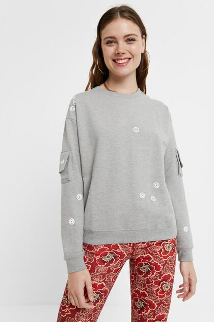 Sweatshirt sleeve pockets