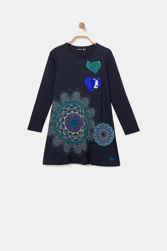Dress galactic mandalas reversible sequins | Desigual