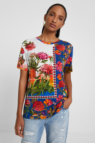 T-shirt flower patch