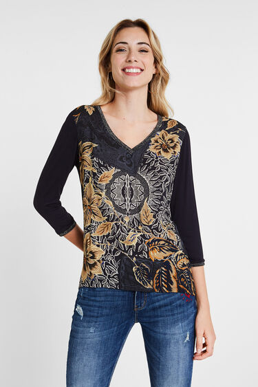 ボーホー 花柄Tシャツ | Desigual