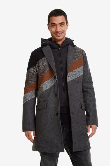 Wool coat with hood   Desigual