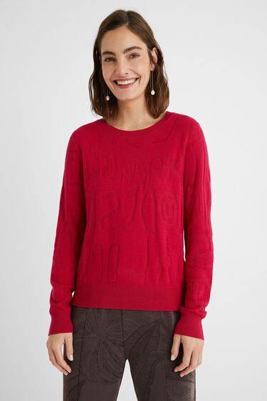 Knit jumper logomania | Desigual