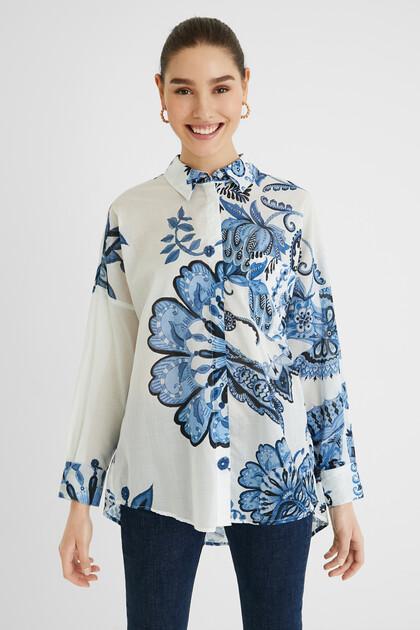 Camisa oversize paisley