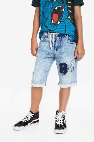 Long Denim Shorts Indigo