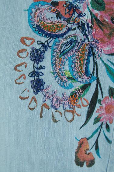 Chemise tencel jean fleurs | Desigual