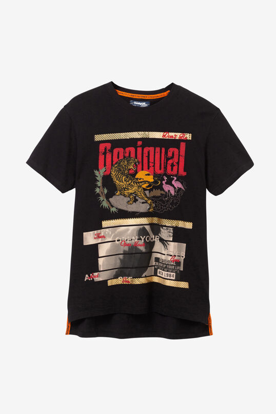 100% cotton tiger print T-shirt | Desigual
