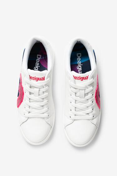 Zapatillas blancas pintadas   Desigual