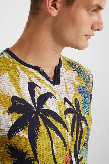 T-Shirt mit Knöpfen am Kragen | Desigual