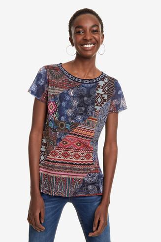 Camiseta patchwork Lucia