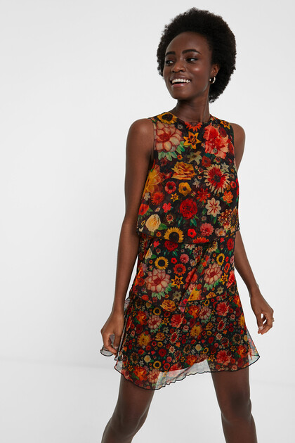 Floral flounces dress