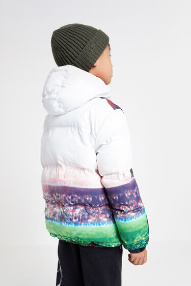 Short hooded anorak | Desigual