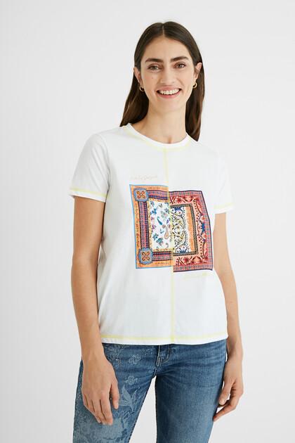 T-shirt patch Paisley 100% coton