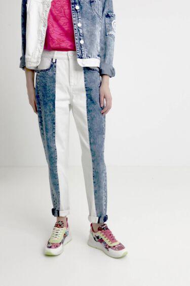 Bicolour mum jeans   Desigual