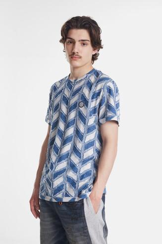 T-shirt jacquard géométrique