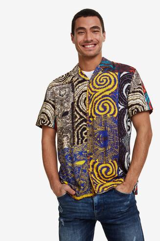 Hawajska koszula z lejącego materiału