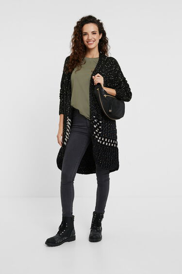 Long open jacket | Desigual