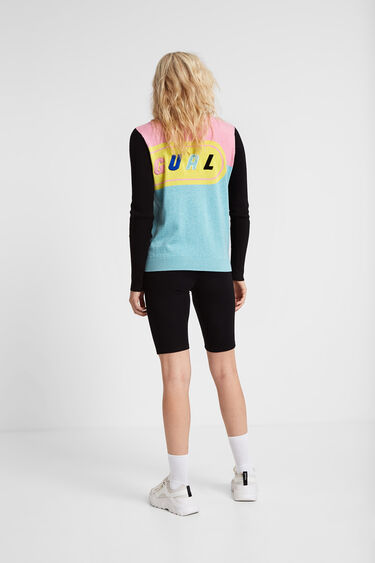Young talents jumper ribbed sleeves and neck | Desigual