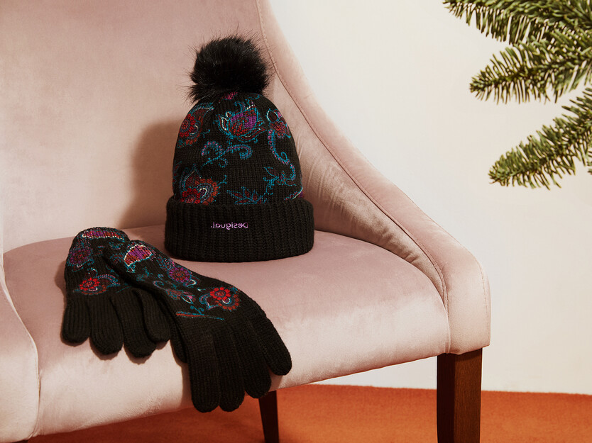 Pack gorro guantes paisley