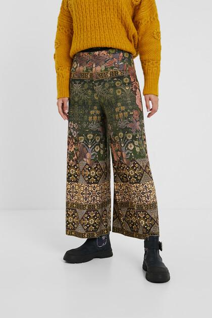 Spodnie culotte w indyjskim stylu