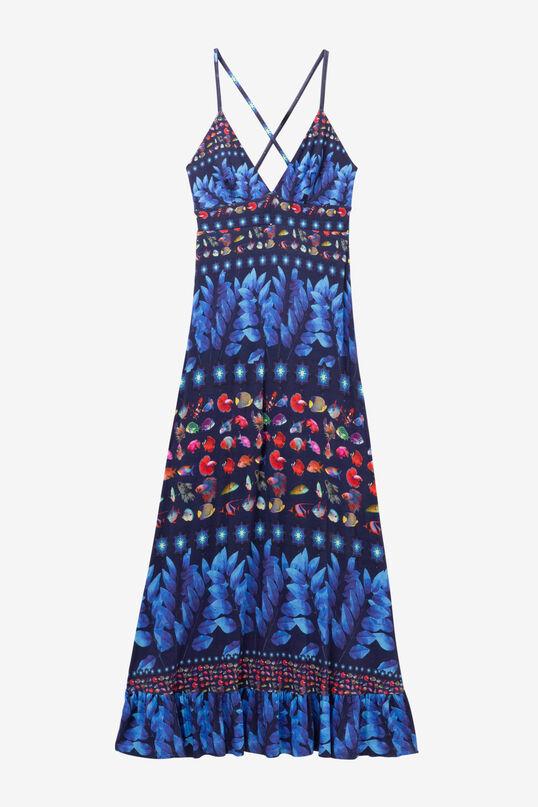 Lange blauwe jurk Greta   Desigual