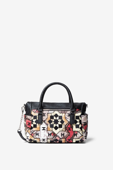 Crocodile skin-effect bag | Desigual