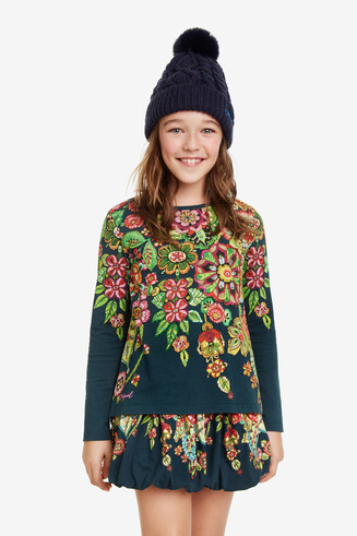 Floral sequinned T-Shirt