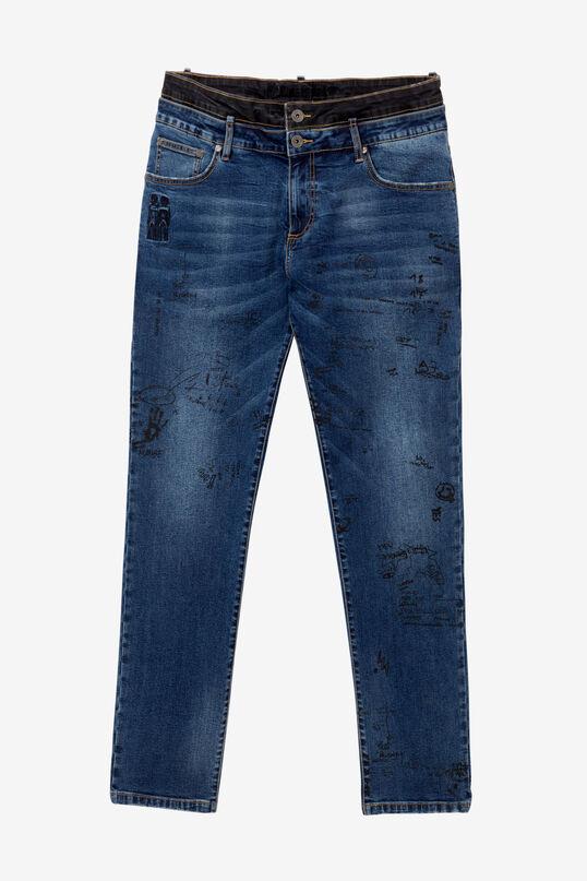 Jeans mit Lettering | Desigual