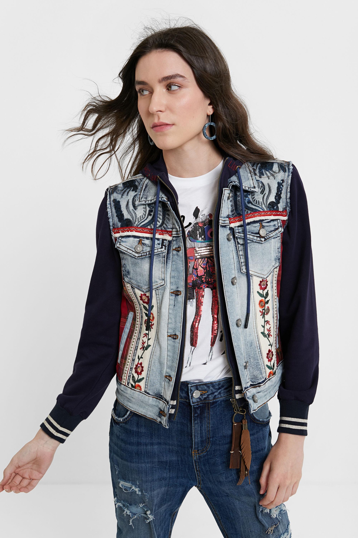 Giacca di jeans slim cappuccio | Desigual