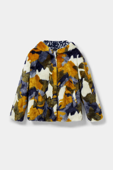 Short plush jacket | Desigual