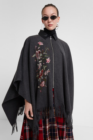 Poncho cloth fringe