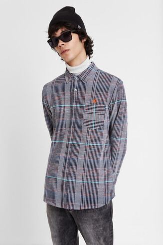 Camisa rayas punto grueso