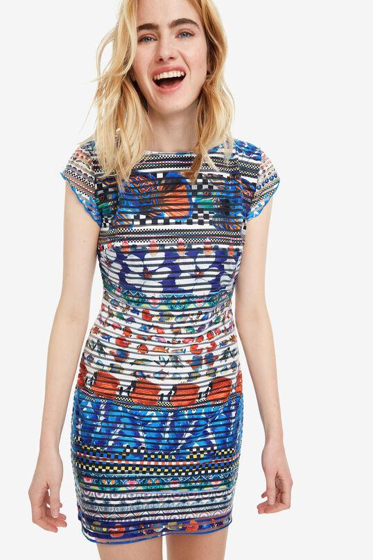Slimfit jurk met tropische print Fiona | Desigual