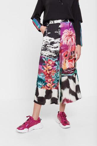 Culotte de inspiración oriental floral