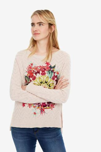 Gebreide trui met bloemen Kenmare