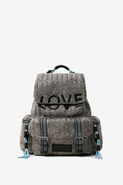Silver braided backpack