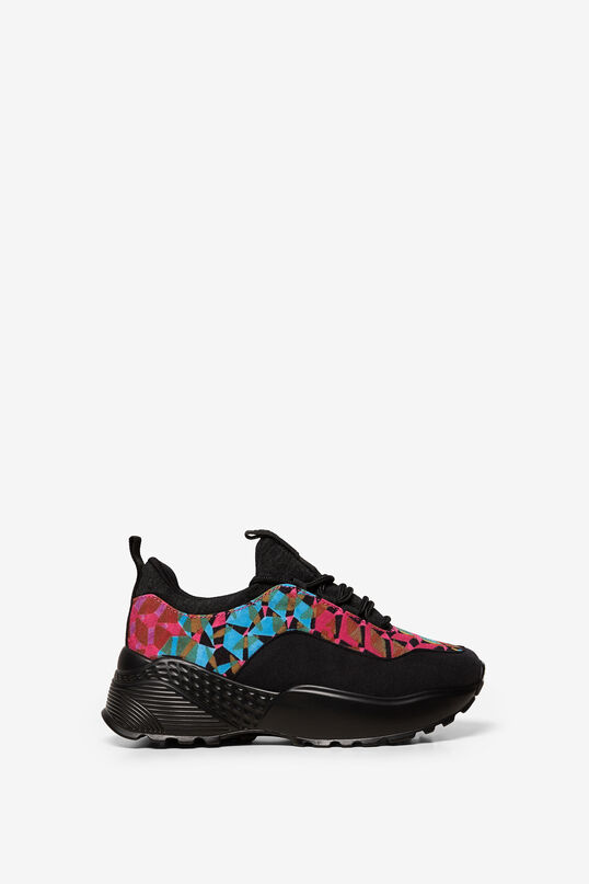 "Sneakers ""Chunky"" mit Patch-Muster 