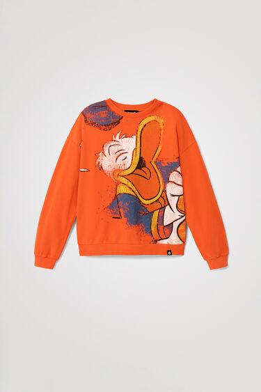 Bluza z dzianiny dresowej z Kaczorem Donaldem   Desigual